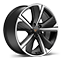 performance 38 18-inch machined alloy wheels in silver and sport black