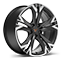 performance 38 18-inch machined alloy wheels in silver