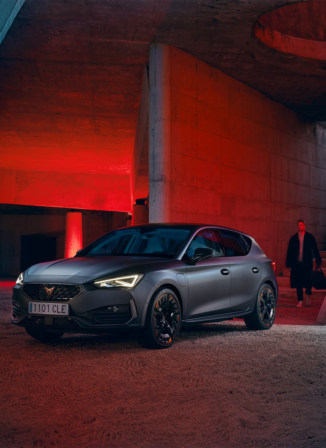 CUPRA Formentor 2020 with copper alloy wheels in a garage